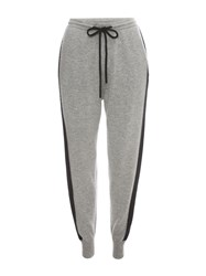 Markus Lupfer Grey And Black Ml Sport Stripe Cashmere Joggers