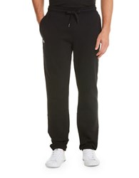 Lacoste Solid Sweatpants With Drawstring Black