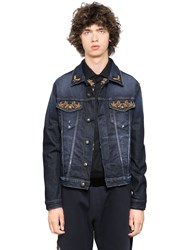 Lords And Fools Embroidered Stretch Cotton Denim Jacket