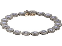 Munnu Women's Mixed Gemstone Oval Link Bracelet No Color