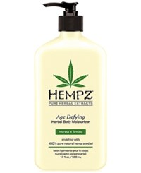 Hempz Age Defying Herbal Body Moisturizer 17 Oz. No Color