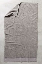 Anthropologie Linen Bordered Westchester Towel Collection Aluminum