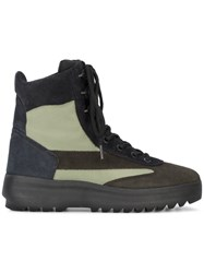31d9a4450d1f8 Yeezy Brown Suede Military Boots Leather Suede Nylon Rubber Green