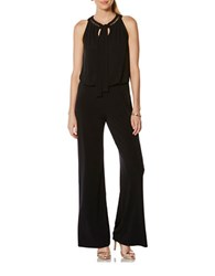 Laundry By Shelli Segal Solid Sleeveless Jumpsuit Black