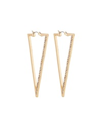 Panacea Golden Triangle Hoop Earrings