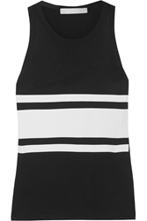 Kain Label Atona Printed Cotton Blend Tank Black