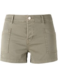 J Brand Slip Pocket Shorts Green