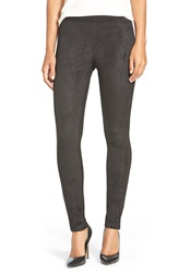 Dkny Faux Suede And Ponte Leggings Black