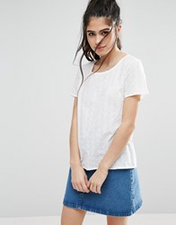 Only Sille Anglaise Top Cloud Dancer White