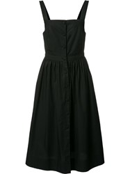 Piamita Sundress Buttoned Dress Black
