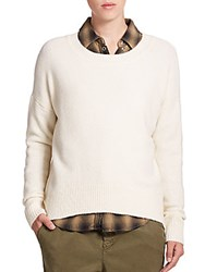Set Wool Crewneck Sweater Ecru