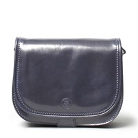 Maxwell Scott Bags Luxury Italian Leather Women's Saddlebag Purse Medium Medolla M Navy Blue