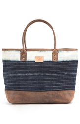 Will Leather Goods 'Indigo Batik' Cotton Canvas Tote Assorted Indigo