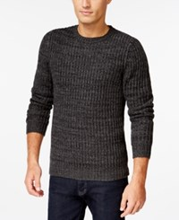 Club Room Big And Tall Marled Textured Sweater Only At Macy's Deep Black