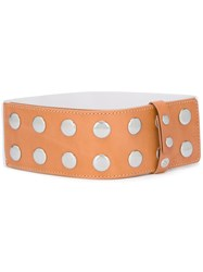 Maison Martin Margiela Mm6 Studded Belt Brown