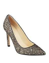 Ivanka Trump Carra6 Glitter Pumps Black Gold