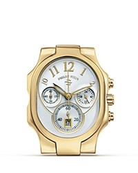 Philip Stein Teslar Classic Gold Chronograph Watch Head 43 Mm No Color
