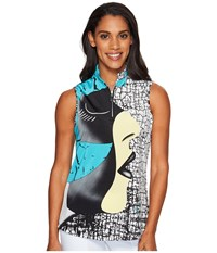 Jamie Sadock Facetime Sleeveless Top Antigua Women's Sleeveless Neutral