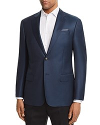 Emporio Armani Dotted Regular Fit Sport Coat Blue