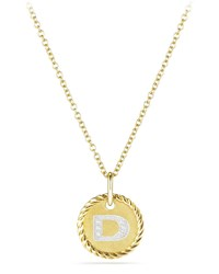 David Yurman Initial D Cable Collectible Necklace With Diamonds