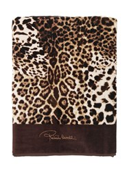 Roberto Cavalli Bravo Cotton Beach Towel Brown