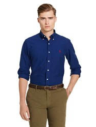 Polo Ralph Lauren Button Down Pin Point Collar Shirt Holiday Navy