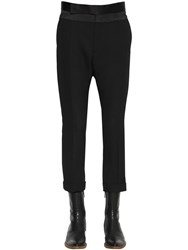 Haider Ackermann Slim Virgin Wool Crepe Pants Black