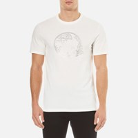Versace Collection Men's Embellished Logo T Shirt White