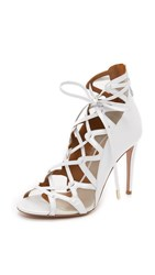 Aquazzura French Lover Bridal Sandals White
