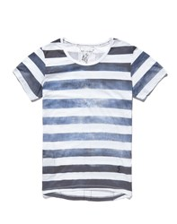 Religion T Shirt With Cloudy Stripe Blue