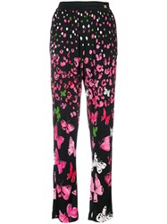 Class Roberto Cavalli Butterfly Print Trousers Black
