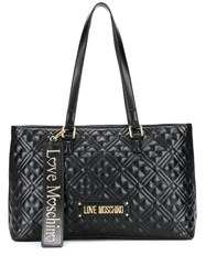 Love Moschino Quilted Logo Plaque Tote Bag 60