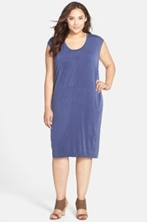 Carmakoma 'Aldgate' Shift Dress Blue