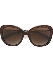 Chanel Pearl Detail Sunglasses Brown