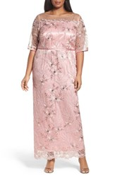 Brianna Plus Size Women's Embellished Gown