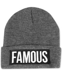 Famous Stars And Straps Men's Future Bar Beanie Heather Grey