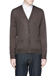 Faconnable Wool Cardigan Brown