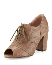 Seychelles Eternity Peep Toe Oxford Pump Taupe