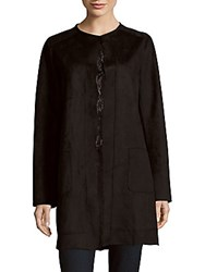 T Tahari Rosemary Coat Black