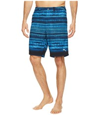 Tommy Bahama Cayman Tripoli Tie Dye Swim Trunk Ocean Deep Men's Swimwear Blue