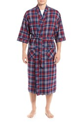 Majestic International Men's Flannel Cotton Robe Holiday Red