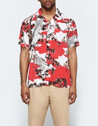 Stussy Falcon Shirt In Red