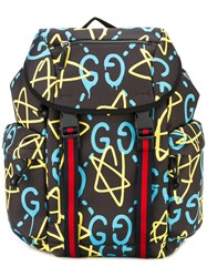 Gucci All Over Print Backpack Black