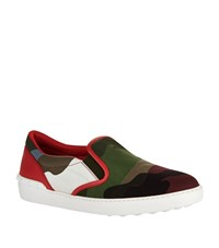 Valentino Slip On Camo Skate Sneaker Male Red