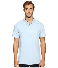 Todd Snyder Weathered Pocket Polo Pale Surf Men's Clothing Blue
