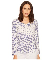 Nally And Millie Bubble Printed V Neck French Terry Top Multi Clothing