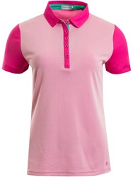 Green Lamb Fay Mesh Dot Polo Pink