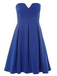 Dorothy Perkins Bandeau Prom Dress Cobalt