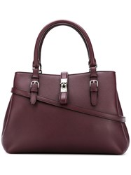 Bally Buckled Tote Bag Brown