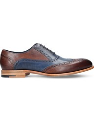 Barker Valiant Two Tone Brogue Leather Oxford Shoes Blue Other